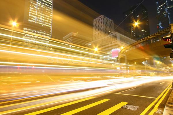 Traffic through downtown of Hong Kong at night Stock photo © kawing921