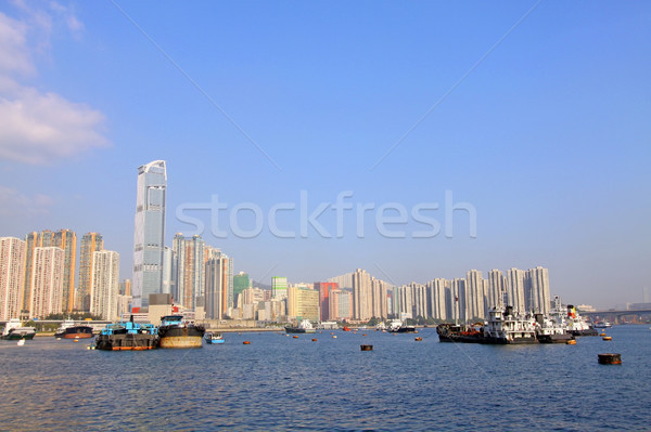 Hongkong centrum dzień biuro budynku domu Zdjęcia stock © kawing921