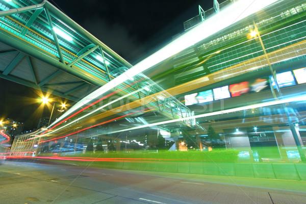Verkeer centrum Hong Kong nacht business licht Stockfoto © kawing921