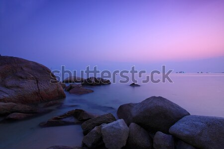 Sunset over the ocean in Hong Kong Stock photo © kawing921