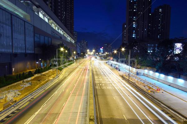 Cidade tráfego noite negócio abstrato luz Foto stock © kawing921