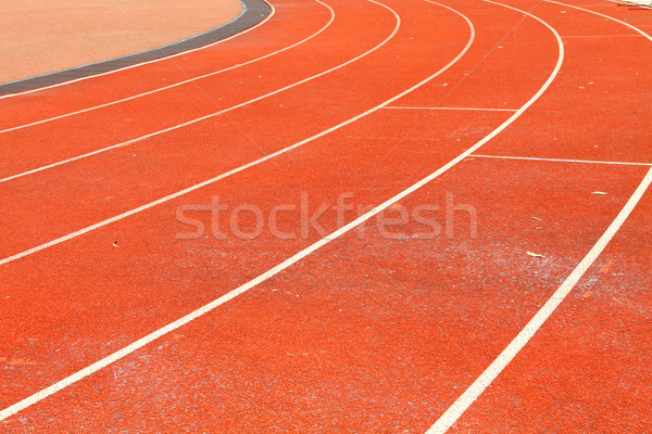 Running track lanes for athletes  Stock photo © kawing921