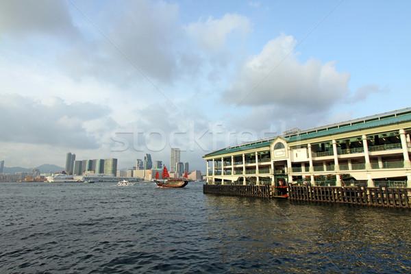 香港 フェリー 桟橋 ボート オフィス ストックフォト © kawing921