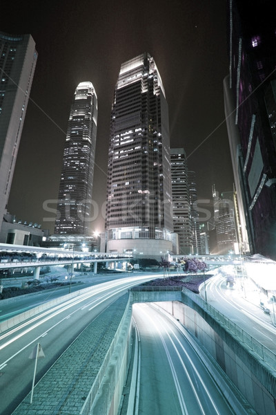 Busy traffic in downtown of Hong Kong, low saturation image.  Stock photo © kawing921