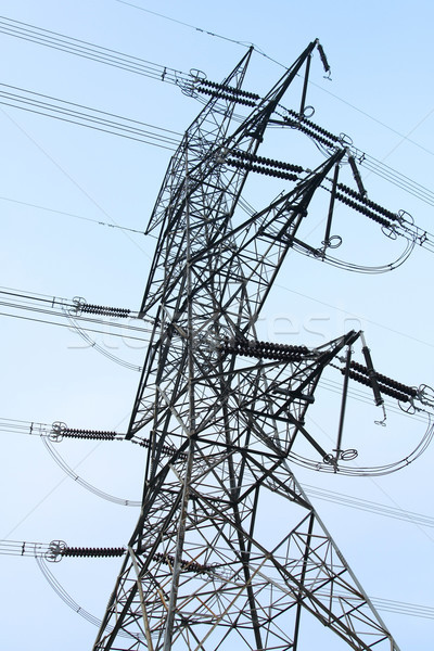 Elektrycznej słup moc niebo technologii Zdjęcia stock © kawing921