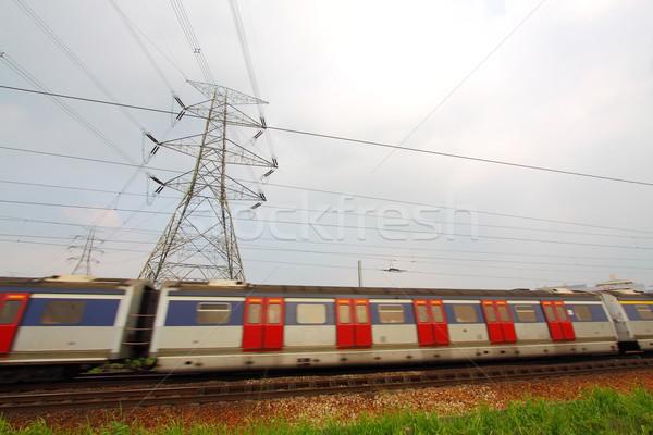 Veloce movimento treno molti business città Foto d'archivio © kawing921