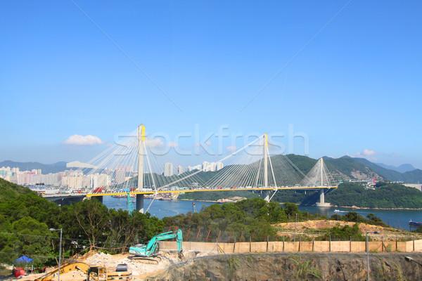 Ting Kau Bridge in Hong Kong at day Stock photo © kawing921