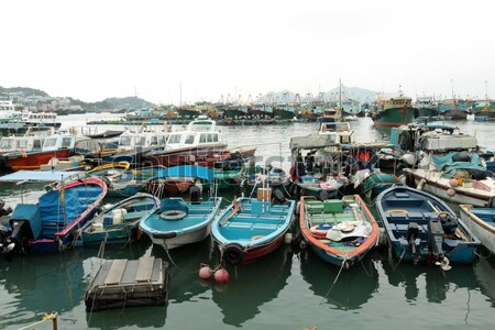 Mar ver Hong Kong pescaria barcos água Foto stock © kawing921
