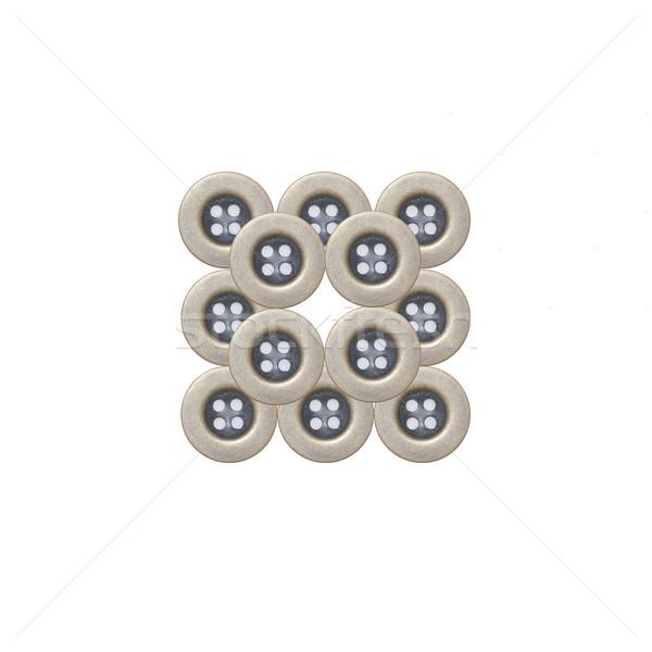 布 ボタン 孤立した 白 ファッション デザイン ストックフォト © kawing921