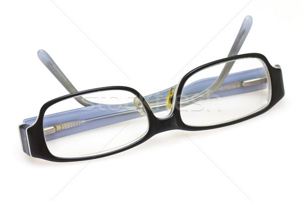 Paar bril geïsoleerd witte frame weefsel Stockfoto © kawing921