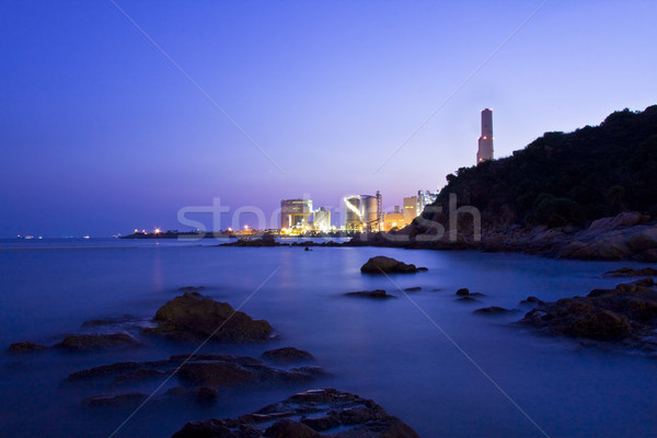 Energiecentrale eiland schemering Hong Kong water natuur Stockfoto © kawing921
