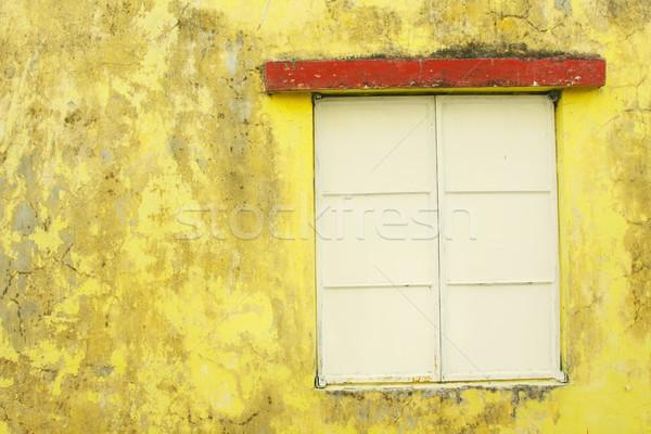 Vintage muur venster verf stedelijke weefsel Stockfoto © kawing921