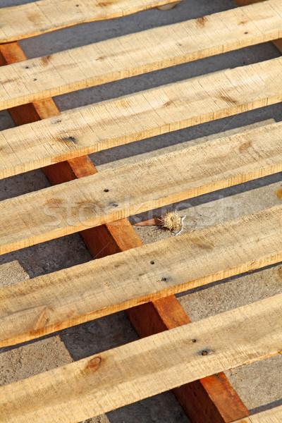 Houten platen auto textuur muur abstract Stockfoto © kawing921