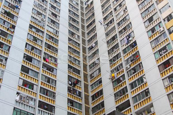 Packed Hong Kong public housing Stock photo © kawing921