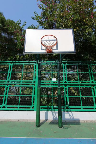 Boisko do koszykówki niebo tle siłowni niebieski Zdjęcia stock © kawing921