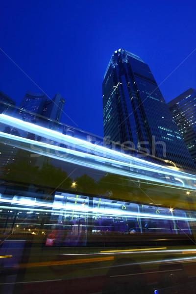 Tráfico Hong Kong noche negocios resumen luz Foto stock © kawing921