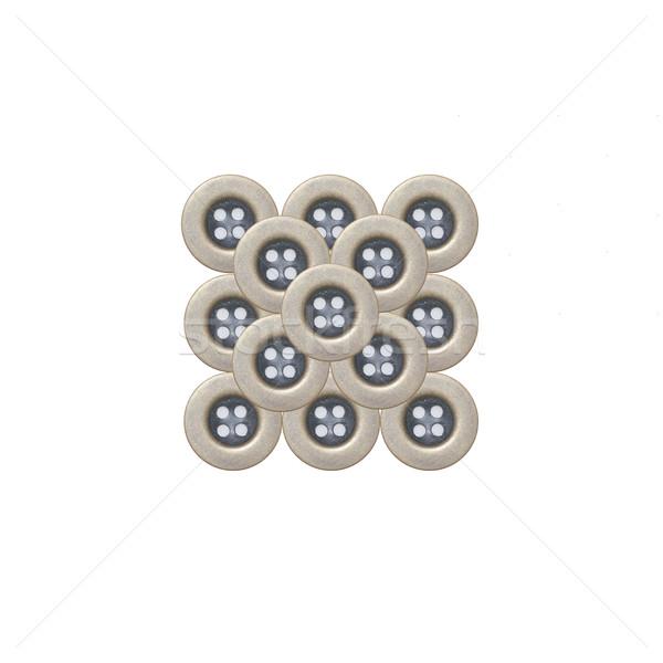 Stockfoto: Doek · knoppen · geïsoleerd · witte · mode · ontwerp