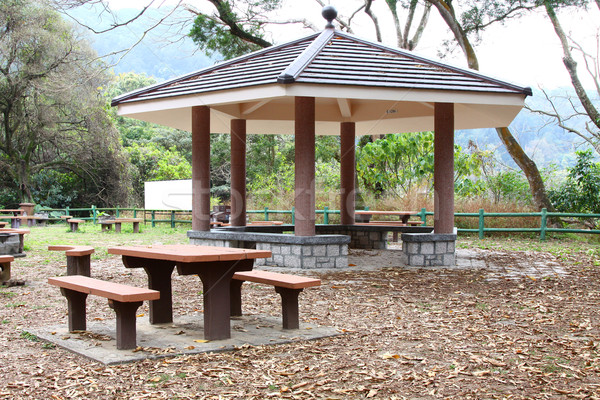 Chair and pavillion in country park of Hong Kong  Stock photo © kawing921