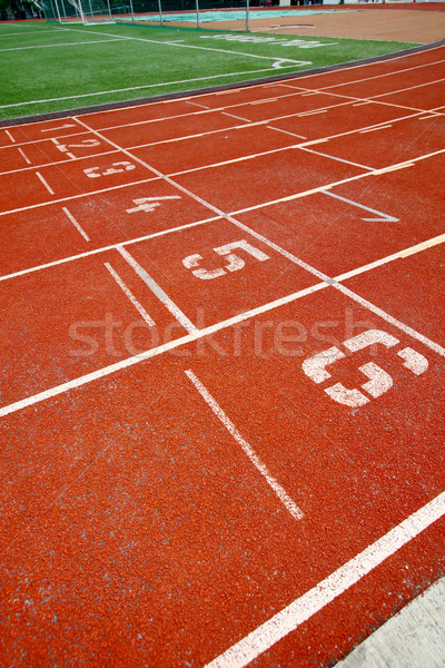 Abstract view of running track, the starting point. Stock photo © kawing921