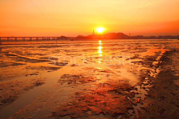 Wygaśnięcia wybrzeża wody świetle tle lata Zdjęcia stock © kawing921