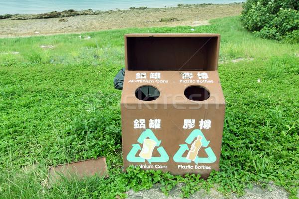 Reciclagem Hong Kong metal verde azul limpar Foto stock © kawing921