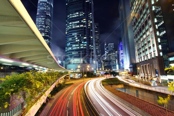 Traffic in city at night Stock photo © kawing921