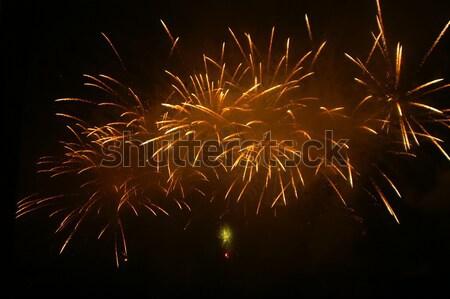 Сток-фото: фейерверк · высокий · небе · фон · ночь