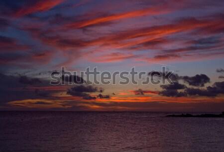 морем закат Nice яркий цветами небе Сток-фото © kaycee
