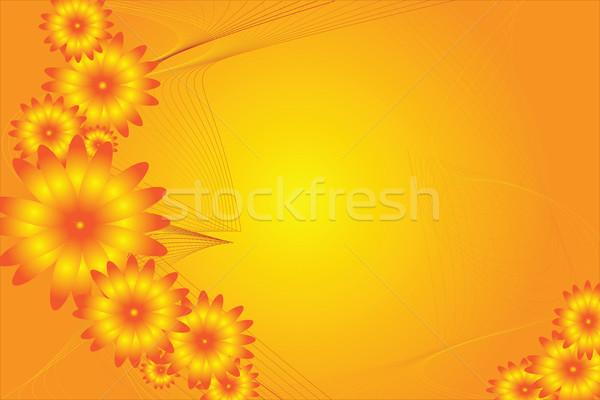 Flower power аннотация цветок дизайна оранжевый желтый Сток-фото © kaycee