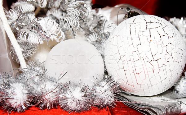 рождество украшение украшения белый серебро красный Сток-фото © kaycee