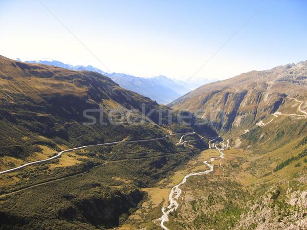 горные дороги реке видимый долины пейзаж Сток-фото © kaycee