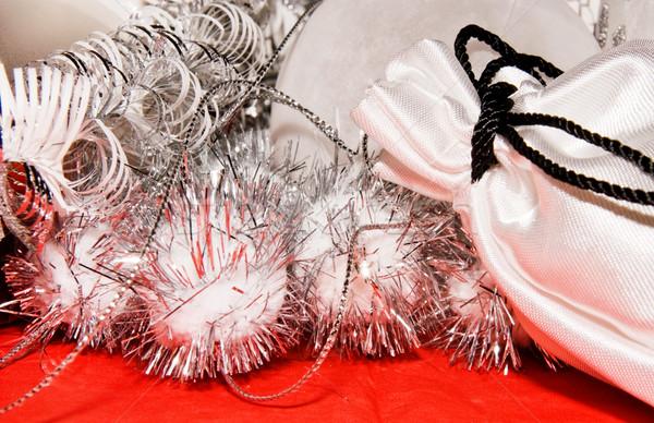 рождество украшение подарок сумку красный ткань Сток-фото © kaycee