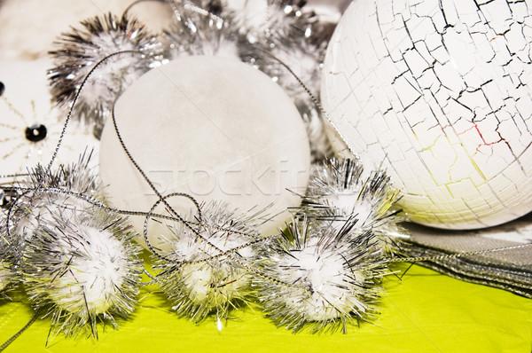 рождество украшение украшения белый серебро извести Сток-фото © kaycee