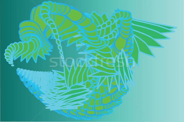 синий зеленый фантазий аннотация Сток-фото © kaycee