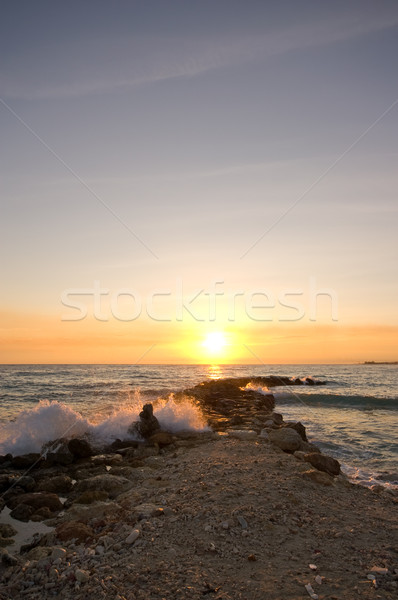 wave breaker sunset Stock photo © kaycee
