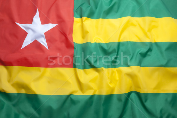 Textile flag of Togo Stock photo © kb-photodesign