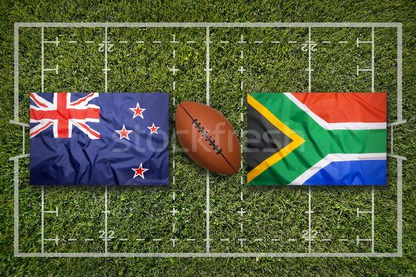 Vs Schotland nieuwe zuiden afrika vlaggen Stockfoto © kb-photodesign