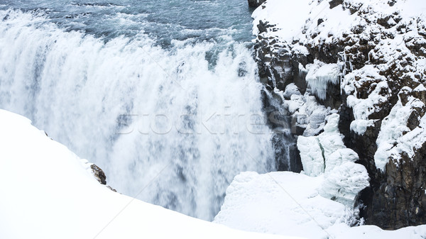 Waterfall Gullfoss in Iceland, wintertime Stock photo © kb-photodesign