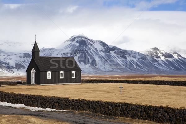 Black Church of Budir Stock photo © kb-photodesign