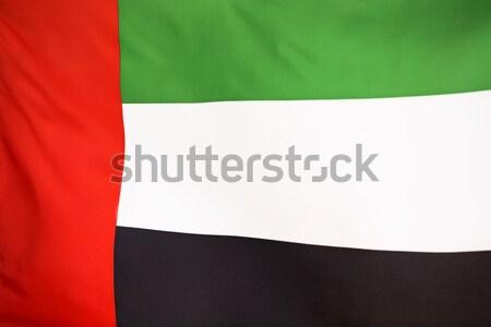 Bayrak Birleşik Arap Emirlikleri ülke malzeme saten Stok fotoğraf © kb-photodesign