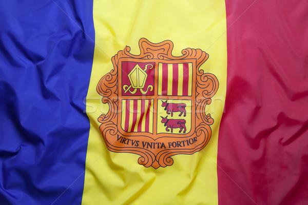 Textiles bandera Andorra azul tejido Europa Foto stock © kb-photodesign