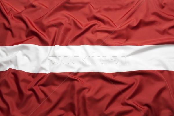Włókienniczych banderą tle tkaniny biały kraju Zdjęcia stock © kb-photodesign