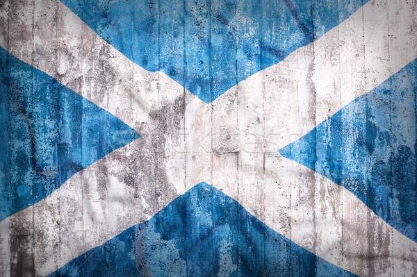 グランジ スタイル スコットランド フラグ レンガの壁 背景 ストックフォト © kb-photodesign
