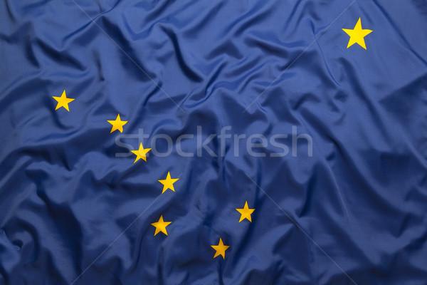 Textil zászló Alaszka felirat csillagok kék Stock fotó © kb-photodesign