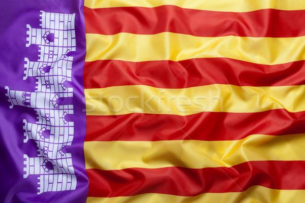 Textile flag of Majorca Stock photo © kb-photodesign