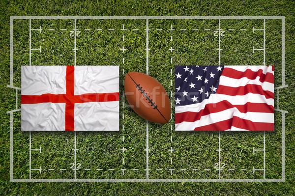 イングランド 対 アメリカ合衆国 フラグ ラグビー フィールド ストックフォト © kb-photodesign