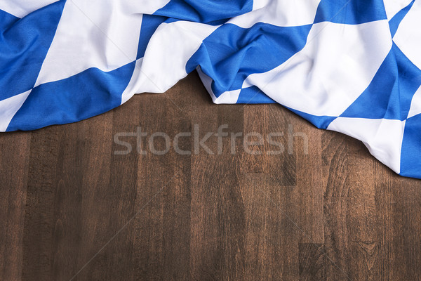 Bavarian flag as a background for Oktoberfest Stock photo © kb-photodesign