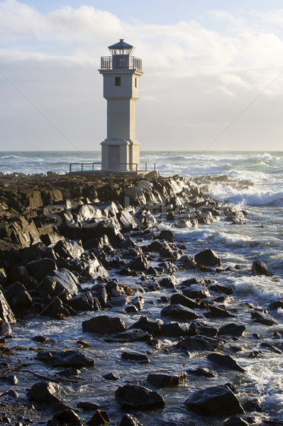 Lighthouse at the port of Akranes, Iceland Stock photo © kb-photodesign