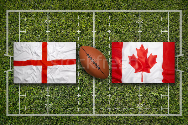 England vs. Canada flags on rugby field Stock photo © kb-photodesign