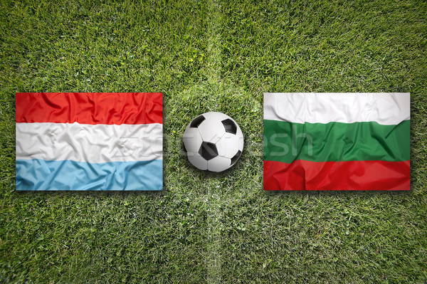 Luxembourg vs. Bulgaria flags on soccer field Stock photo © kb-photodesign